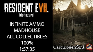 Resident Evil 7 (PC) Speedrun - NG+ MADHOUSE, All Files, All Coins, All Bobbleheads - (1:57:35)