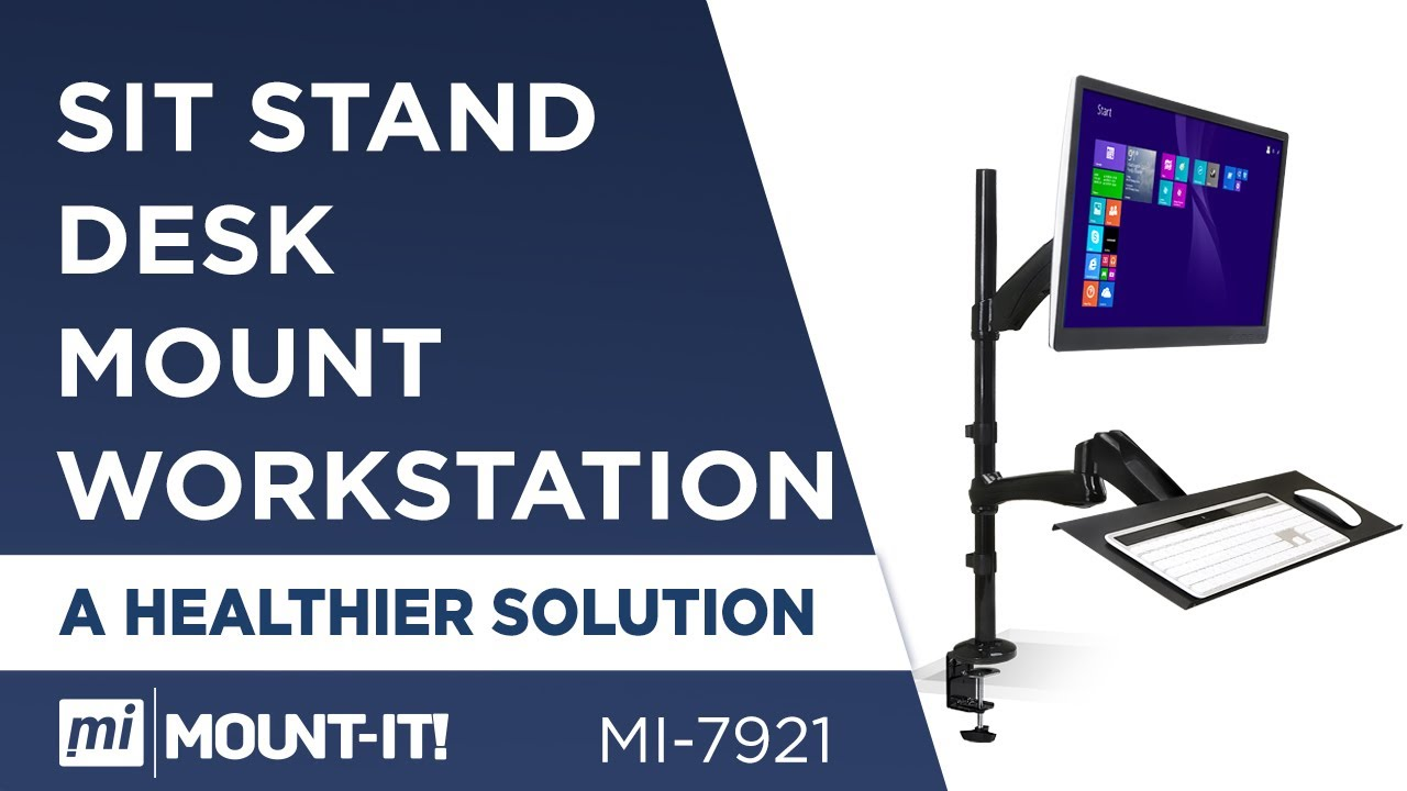 Mount It Mi 7921 Sit Stand Desk Mount Workstation Height
