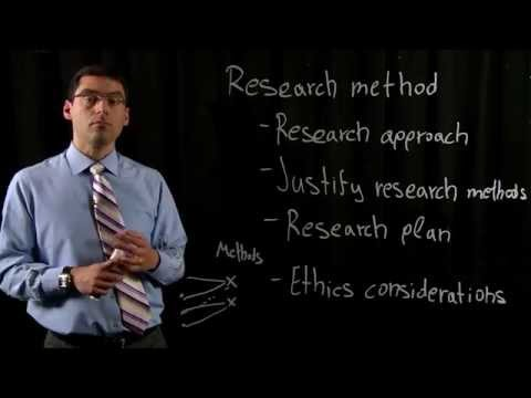 Thesis writing - Research method section