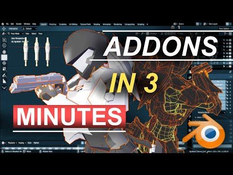 Blender 2.8 Python Addons In 3 Minutes!