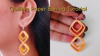 How to Make Quilling Earring / Tutorial / Design 69