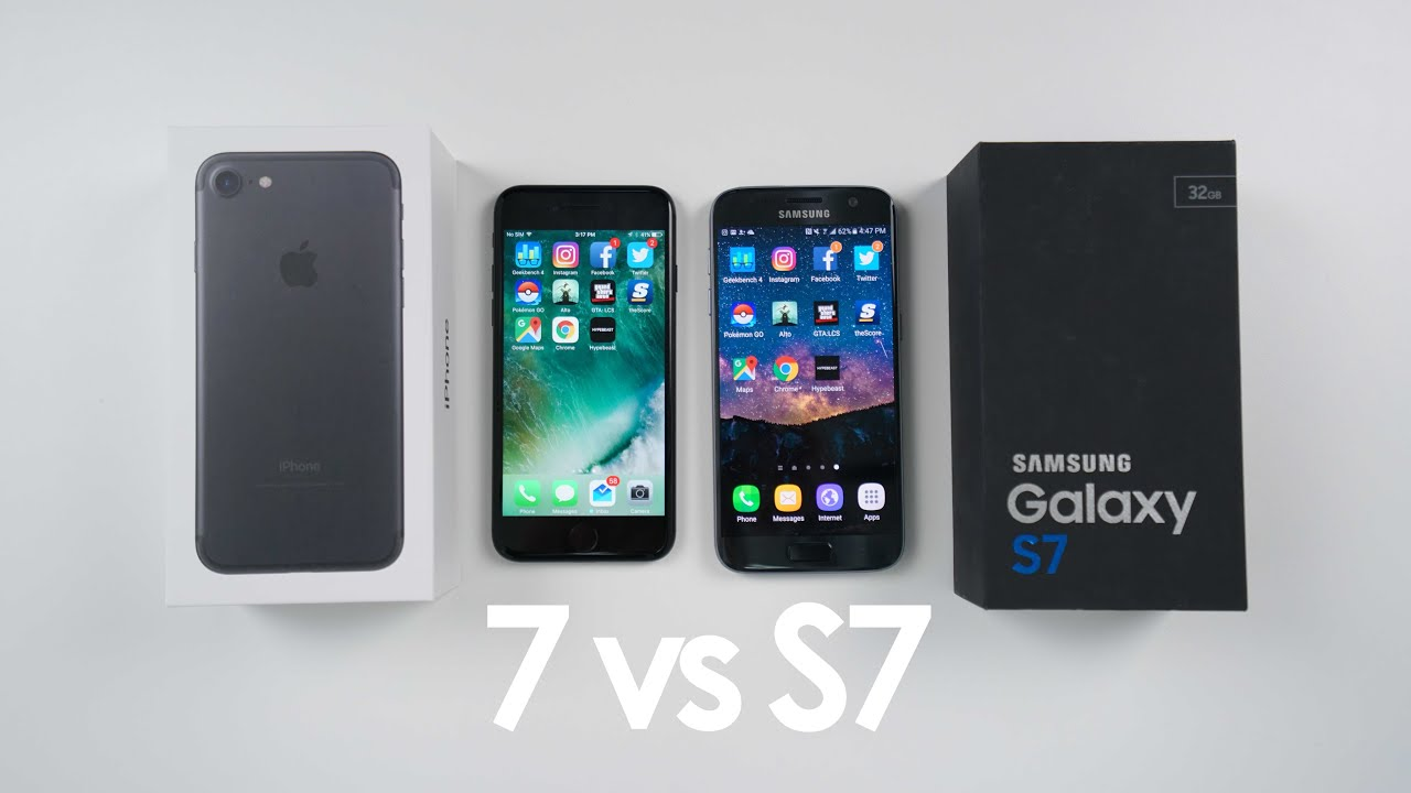 samsung galaxy vs iphone iphone 7 vs samsung galaxy s7 speed test and comparison 2922