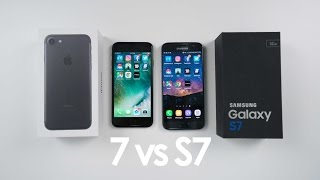 iPhone 7 vs Samsung Galaxy S7 SPEED TEST and Comparison