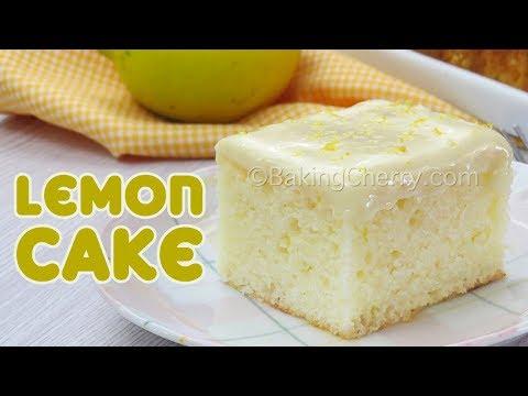 SOFT AND FLUFFY LEMON CAKE | Easy Recipe | Homemade | Baking Cherry