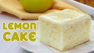 SOFT AND FLUFFY LEMON CAKE  Easy Recipe  Homemade  Baking Cherry