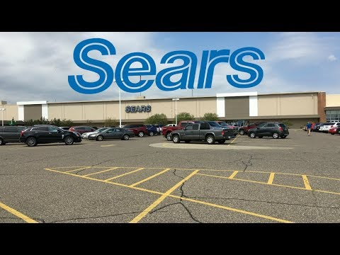 Sears Closing Roseville Michigan Macomb Mall Walk through 4k