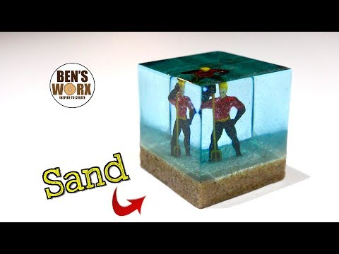 Using Sand to Trap Aquaman in Resin