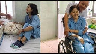 Diễn viên Mai Phương bị tràn dịch màng phổi, bắt đầu truyền thuốc theo phác đồ
