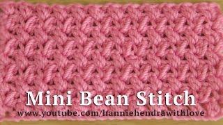 Crochet || Tutorial Merajut Motif Kacang Mini - Mini Bean Stitch