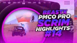 BeastX Pmco Pro Scrim HIGHLIGHTS #14 | PUBG MOBILE