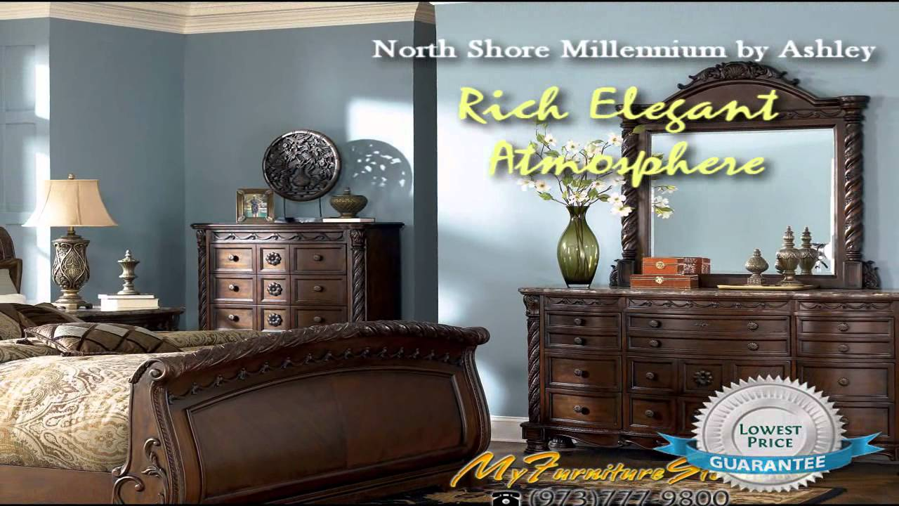 North Shore Sleigh Bedroom B By Ashley MyFurnitureStoreCom YouTube - Ashley furniture northshore bedroom set