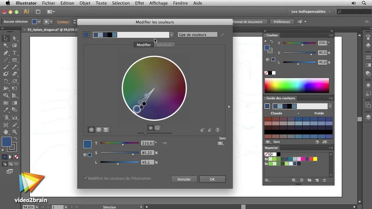 Illustrator Cs6 Préparation Des Couleurs De Lillustration Youtube