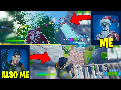 Split Screen But Im Both Players... (Fortnite)