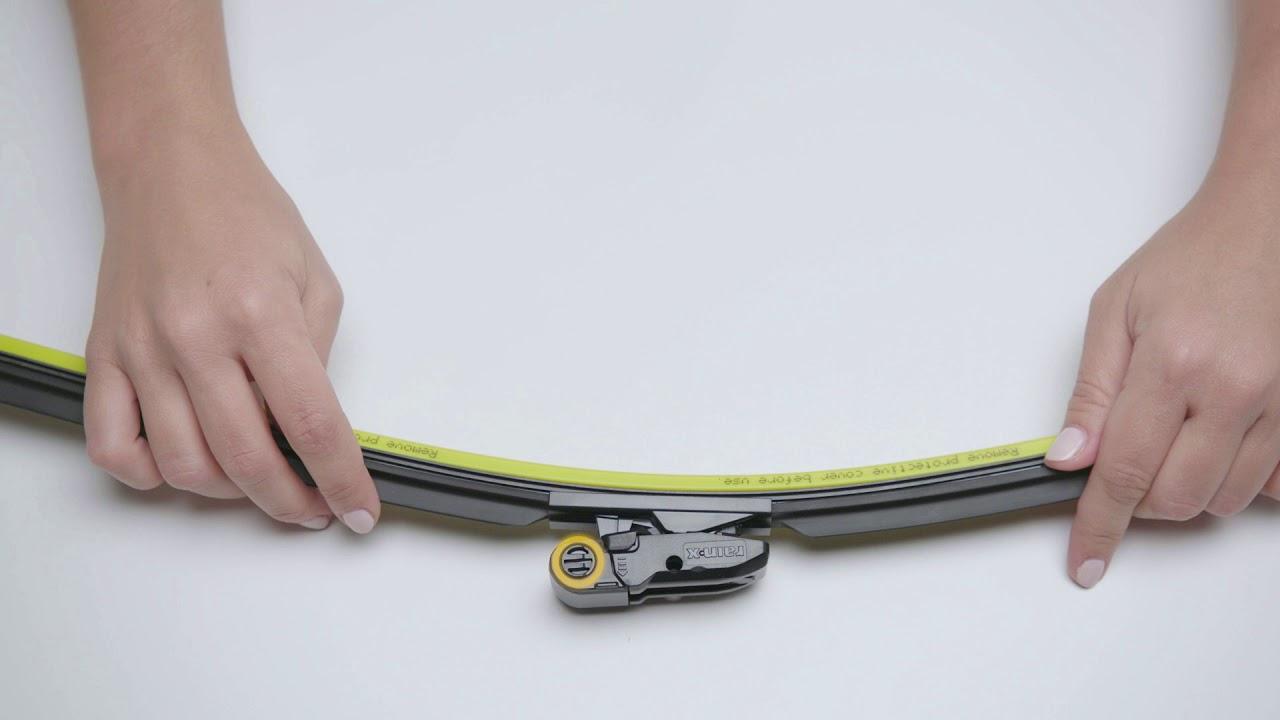 Rain-X Silicone AdvantEdge Wiper Blade - Narrow P & H Installation