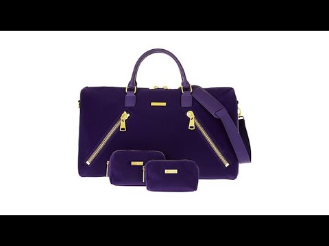 f7d691be2235 JOY IMAN Luxe Velvet Leather Duffle w RFID 2 Trave... - YouTube