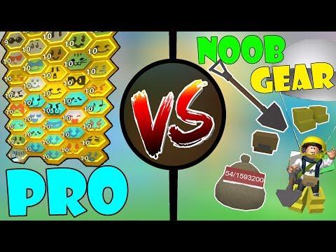 PRO with NOOB GEAR!!!  🐝Roblox Bee swarm simulator
