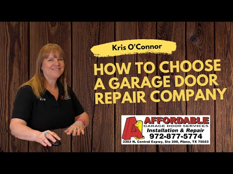 How to Choose Garage Door Repair Company - Kris O'Connor