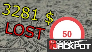 Streamer loses 3281$ live with a 70% chance to win on csgojackpot.