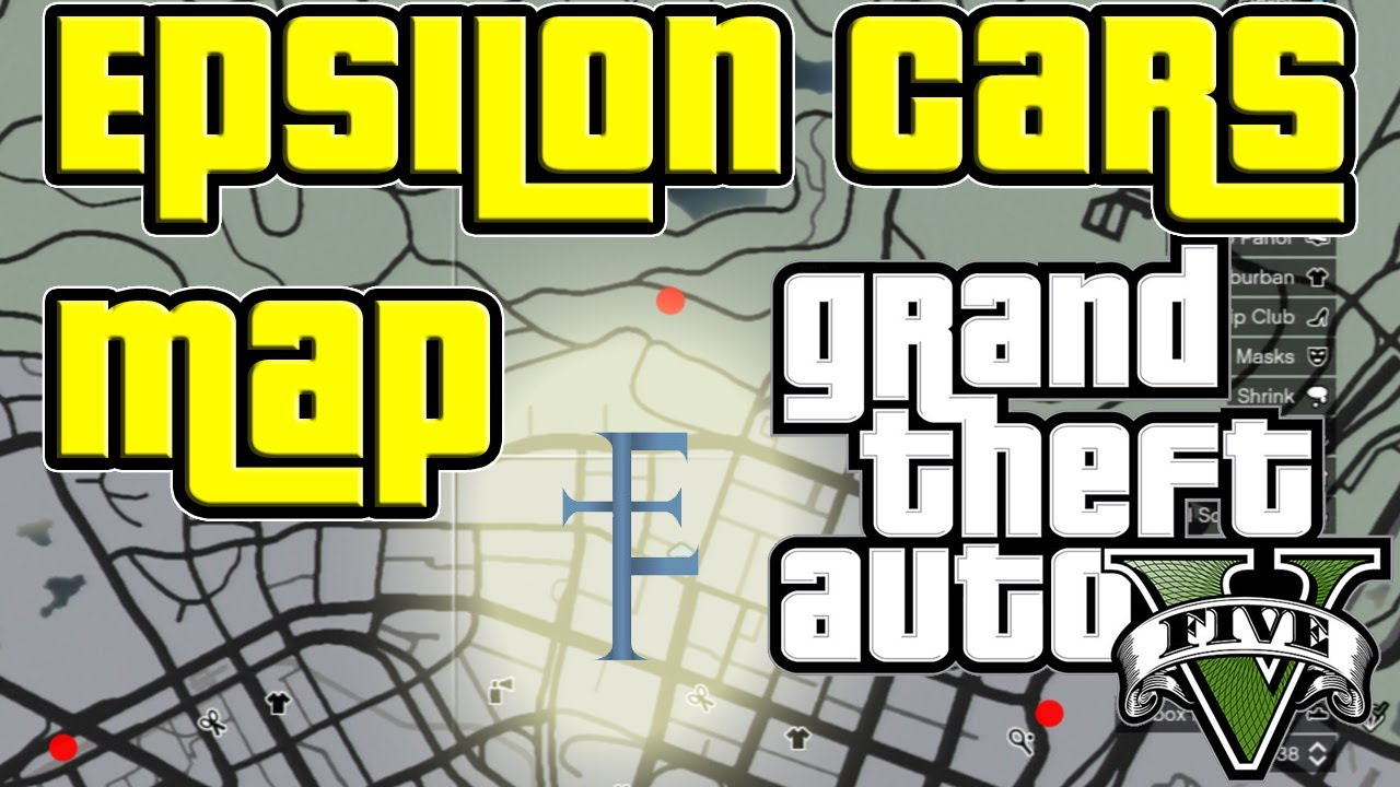 Gta Map To All The Epsilon Car Locations Where To Find The