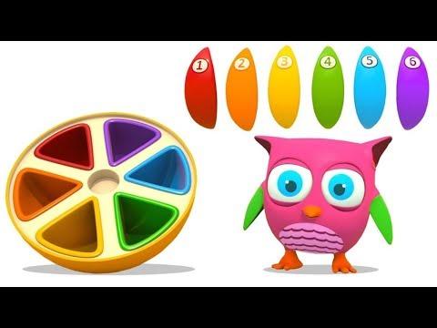 Çizgi Film Baykuş Hop Hop Ve Portakal Oyuncağı! Küçük çocuklar Için Eğitici Video