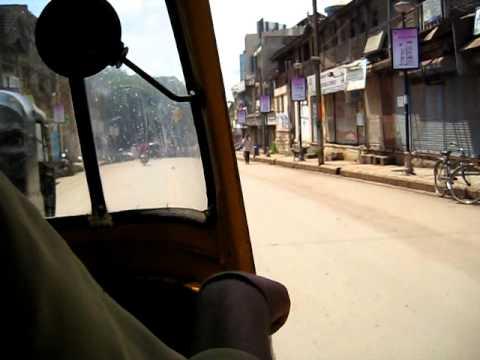 Autorickshaw ride in Hubli, India