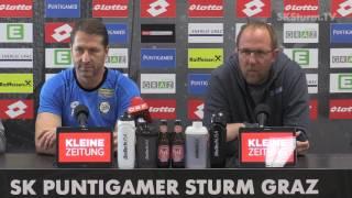 SK Sturm: Mediabriefing vor Wolfsberger AC (36. Runde 2016/17)