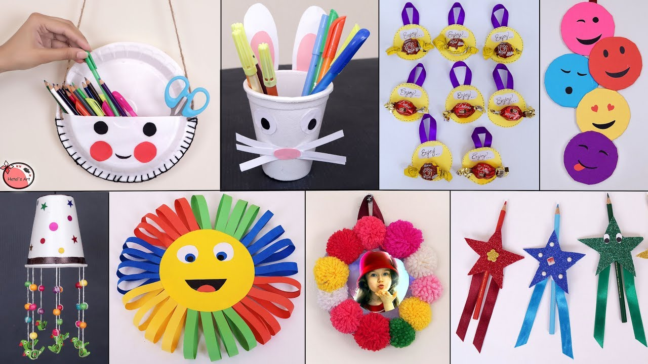 11 Easy Useful DIY Craft Ideas for kids   Best Out of Waste Ideas