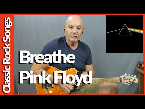 Breathe By Pink Floyd - Guitar Lesson Tutorial