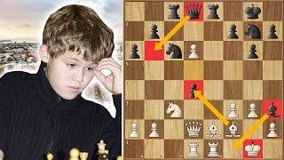 13-Year Old Carlsen Sets a Deadly Trap for Kasparov