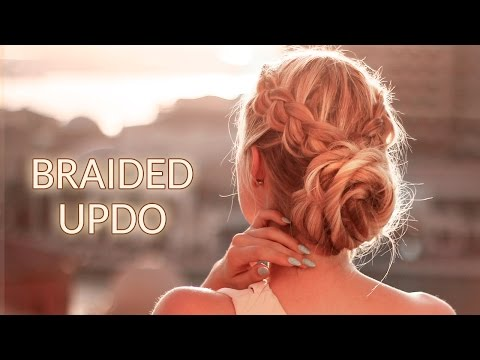 Braided updo hairstyle for Christmas holidays, New Year party ★ Frisuren für lange haare