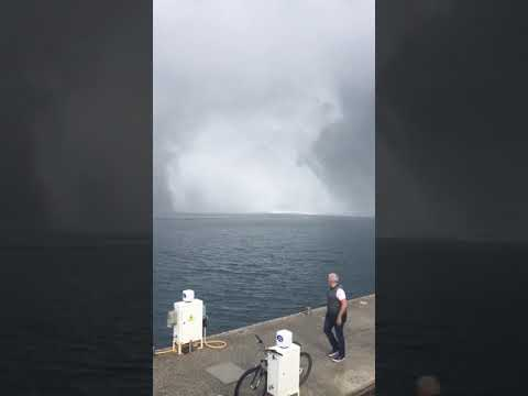 Strong waterspout tornado hits Marmaris Yacht Marina 21.11.2018.