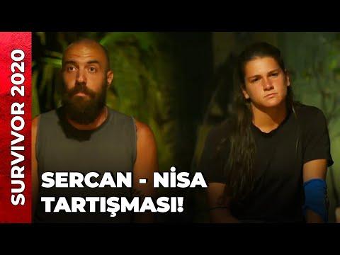 KONSEYDE SERCAN - NİSA TARTIŞMASI   Survivor 2020