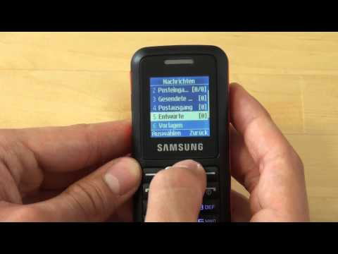 Samsung E1130 Test Bedienung