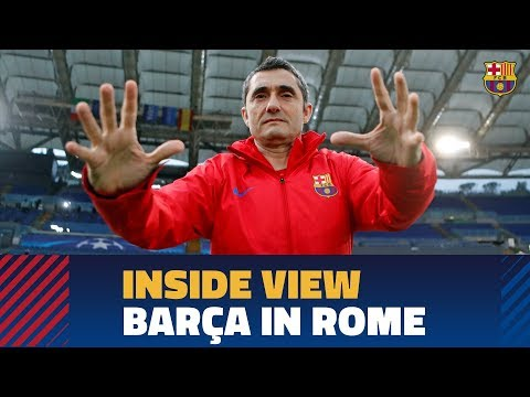 [BEHIND THE SCENES] A day in Rome (Roma - Barça)