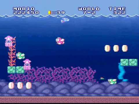 super mario all stars super mario bros underwater theme gameplay youtube. Black Bedroom Furniture Sets. Home Design Ideas