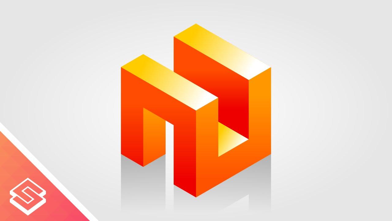Inkscape Tutorial 3d Abstract Cube Concept Logo Design