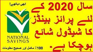 National Savings Pakistan has published thePrize Bond Schedule 2020.
