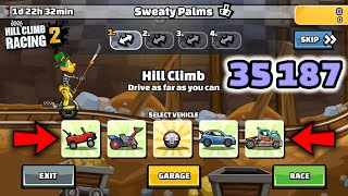 Hill Climb Racing 2 - 35187 points in SWEATY PALMS Team Event