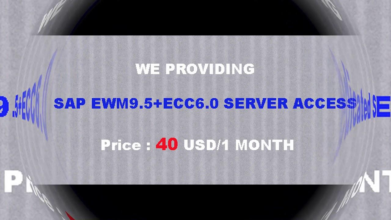 SAP EWM9 5+ECC6 0 Remote Access | SAP EWM9 5+ECC6 0 Server