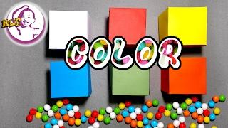 自制顏色紙盒學習顏色
