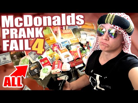 McDonalds PRANK FAIL - ALLES BESTELLEN! - McDonalds Roulette