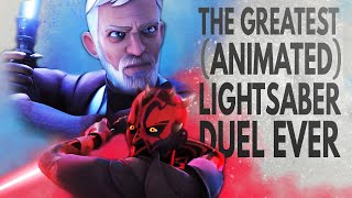 Star Wars: The Greatest (Animated) Lightsaber Duel Ever