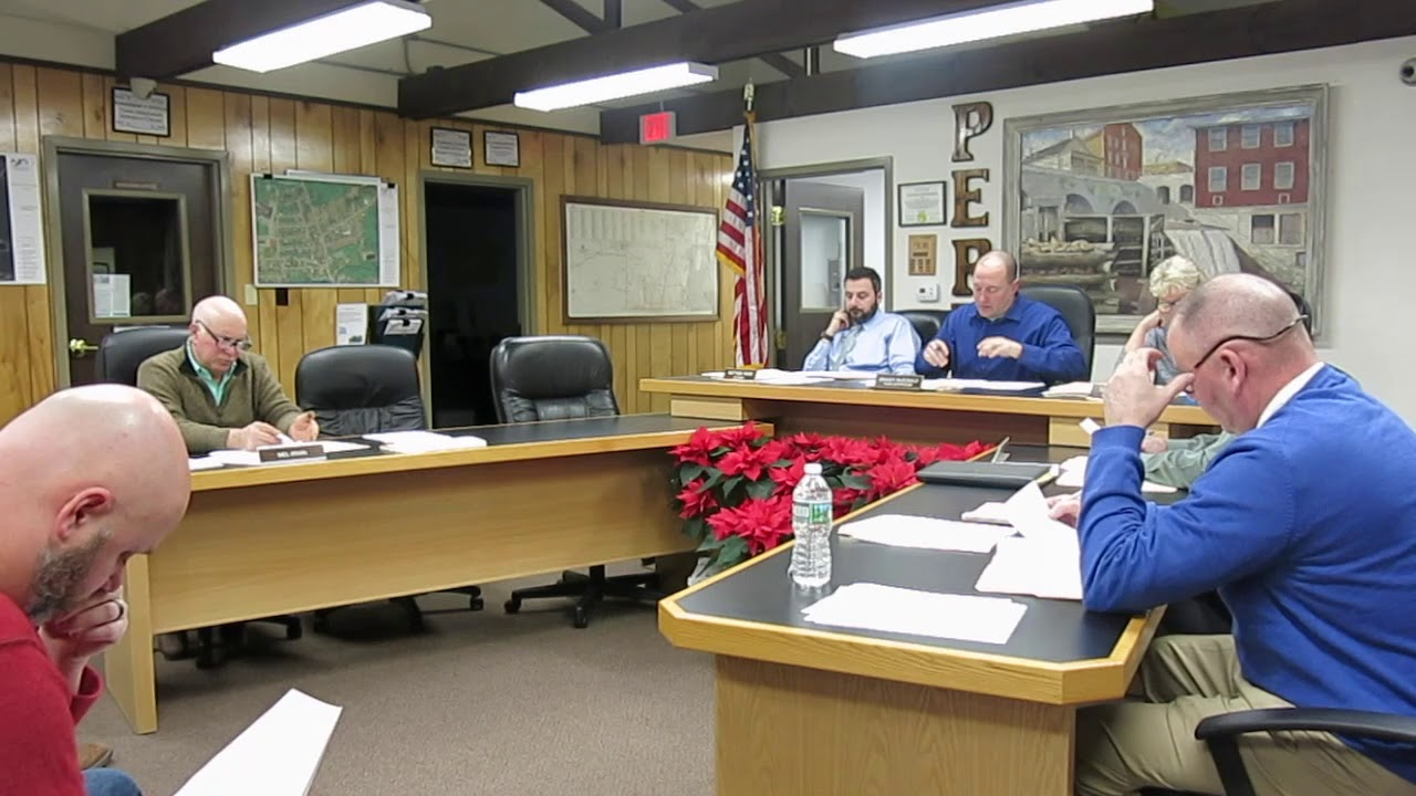 Peru Town Board Organizational Meeting 1-14-19