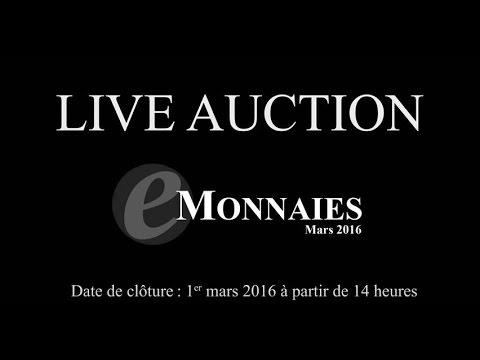 Live Auction e-Monnaies  - 1er mars 2016