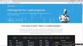 Cryptocurrency Trade Arbitrage Bot - manual