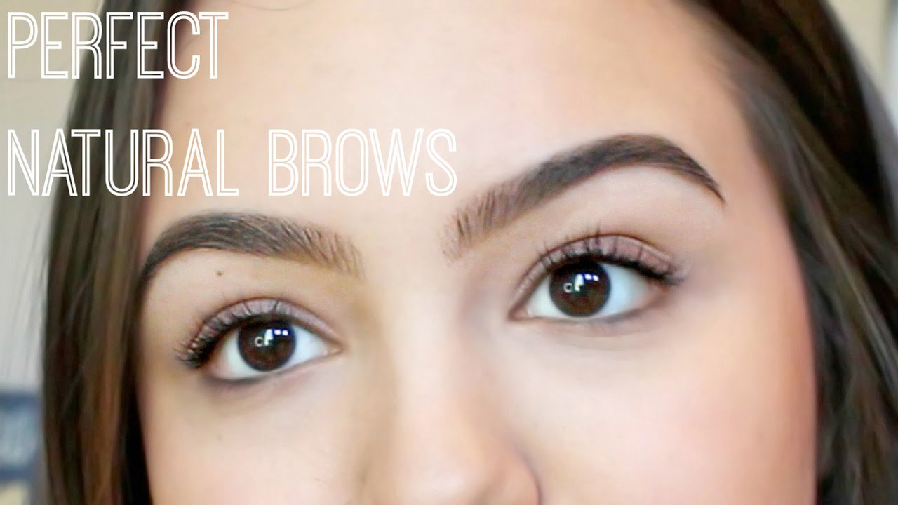 How To Fill Natural Eyebrows Youtube