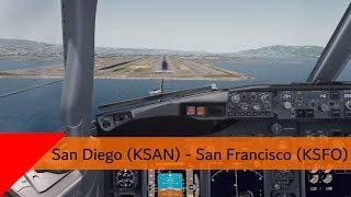 P3D V4.2 - Southwest 737-700 - San Diego to San Francisco (KSAN-KSFO)