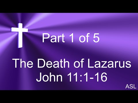 John 11:1-16 - The Death of Lazarus in  American Sign Language