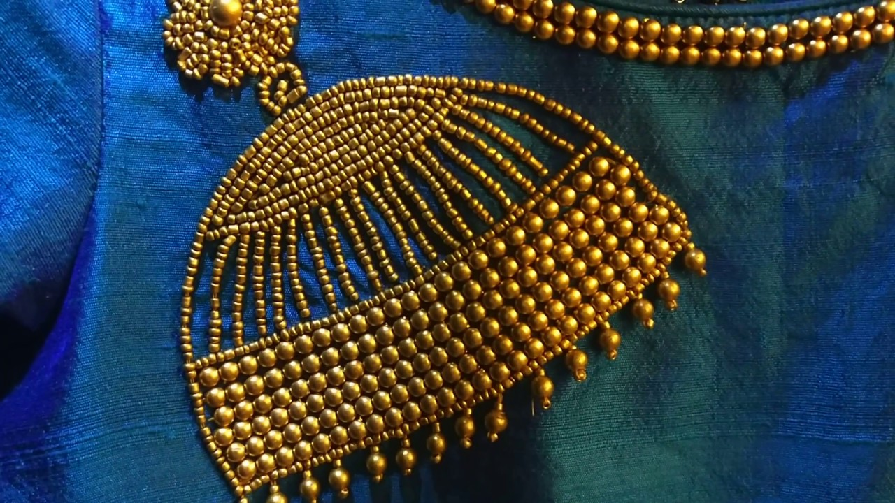 Jhumka design using beads embroidery youtube jhumka design using beads embroidery bankloansurffo Images