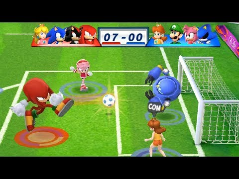 Mario & Sonic At The London 2012 Olympic Games Football Knuckles, Shadow, Soinc and Peach